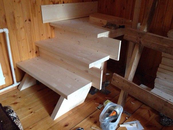 Домашние лестницы своими руками 56