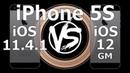 Speed Test : iPhone 5S - iOS 12 vs iOS 11.4.1 (Build 16A366)