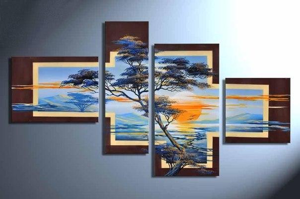 Деревья из гипса на стены