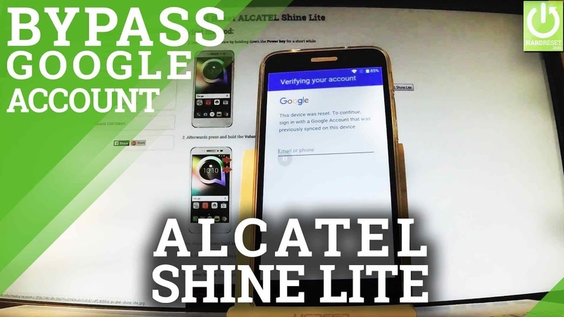 How to Bypass Google Verification in ALCATEL Shine Lite - Remove FRP Lock