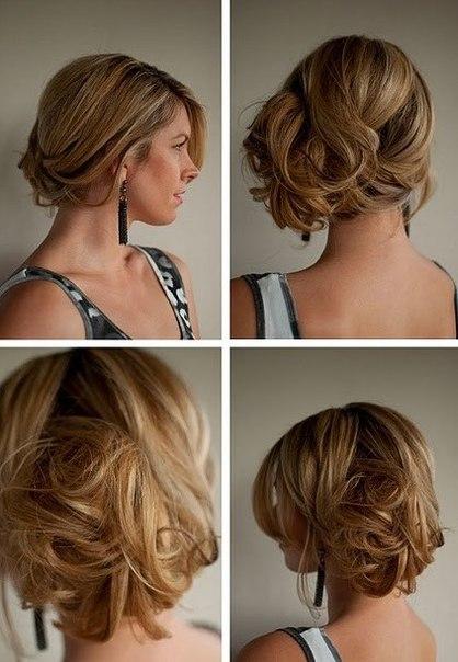 стильный пучок из волос