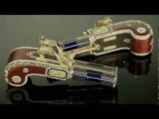The Only Pair of Matching Singing Bird Pistols, Attributed to Frères Rochat