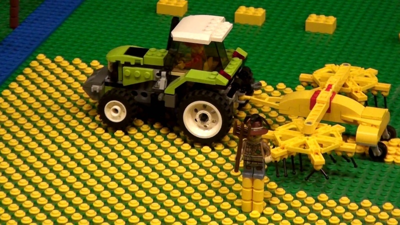 Lego Farm with crops and windmill