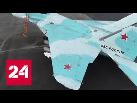 Полеты новейших комплексов МиГ 35 Видео Минобороны Россия 24