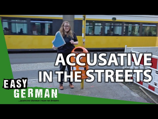 What do I see in the Streets accusative exercise Super Easy German 41
