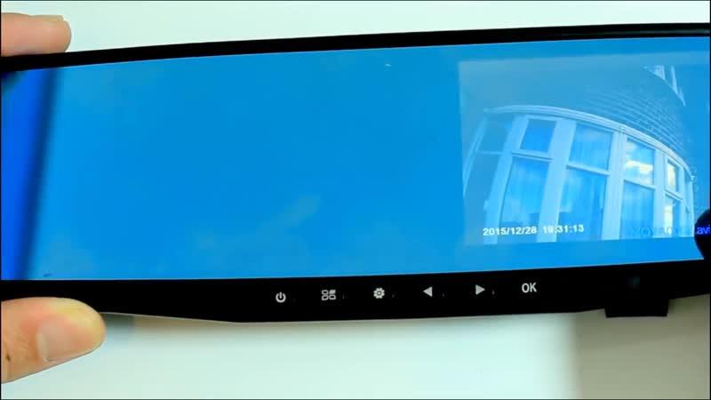 Зеркало заднего вида с видеорегистратором