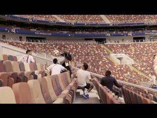 Когда на все сто справляешься с челленджем на стадионе, где будет проходить финал Чемпионата мира... 👀 #Ф2018