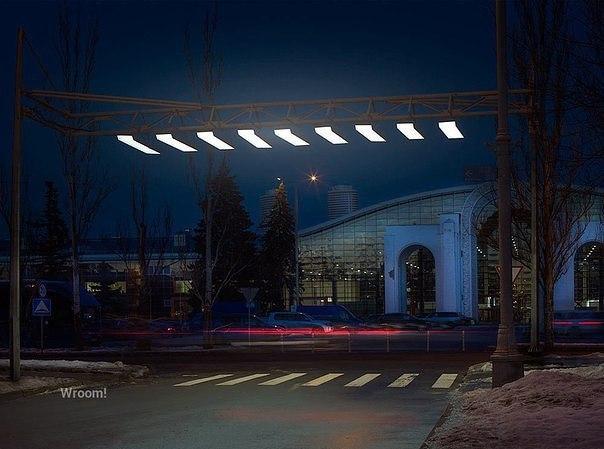 Первая воздушная зебра установлена в Москве на ВДНХ