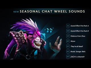 Dota 2 - The International 7 Battle Pass ALL Chat Wheel Sounds