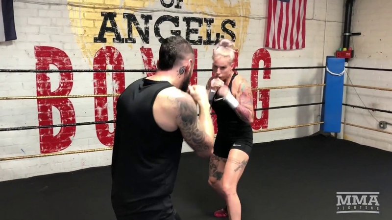 Bare Knuckle FC 2 Bec Rawlings Open Workout MMA Fighting