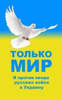 Я против ввода русских войск в Украину