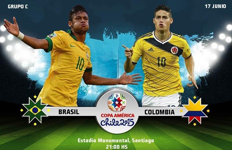 Постер к новости Бразилия и Колумбия сойдутся в ремейке четвертьфинала чемпионата мира-2014