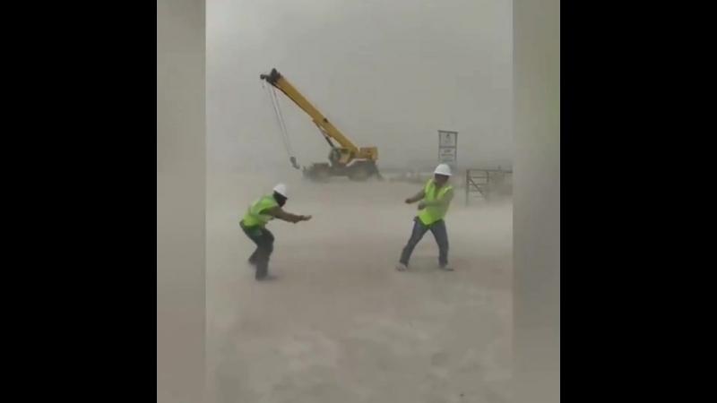 Пыльная буря в городе Пекос США штат Техас 10 01 2018