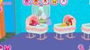 Новая комната для малышек, ставим много люлек в доме карманной пони. Мультик игра для детей.