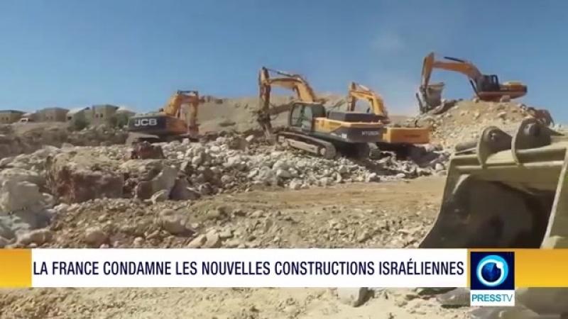 La France a appelé les autorités israéliennes à réviser leur plan illégal de construction et à abandonner leur politique d'expa