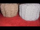 Вязание женской шапки спицами.