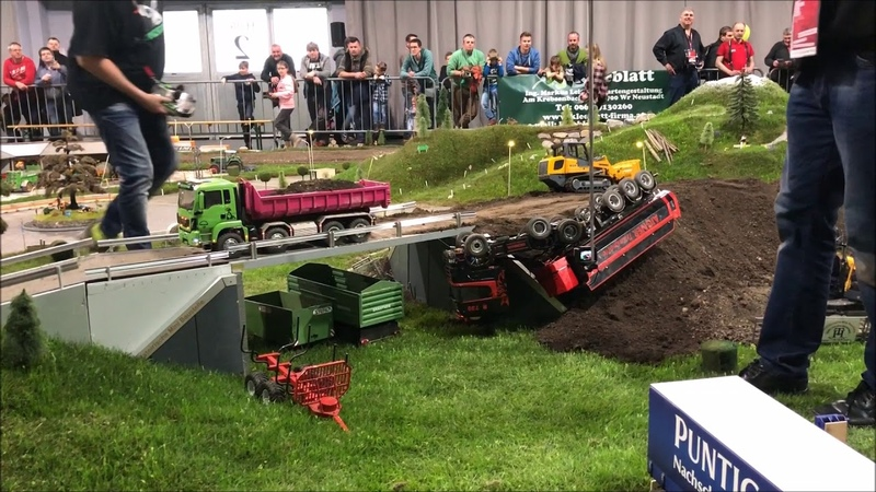 Rc Truck Action Extrem Scania R730 12x12 and Fendt 1050 and Crash Aigner Transporte Spezial