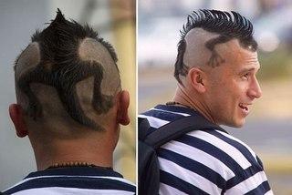 Рисунки на голове причёски