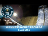 Highest jump into marshmallows - Guinness World Records Classics