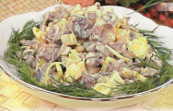 Салаты с грибами 5 рецептов с фото