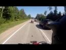 ATV crashes into Car head on