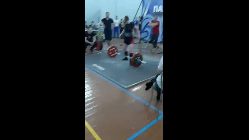 Алина Бабич, 54,66 кг — тяга 152,5 кг кг (Открытый Чемпионат Бреста по классическому пауэрлифтингу, 09.03.2019 г.)