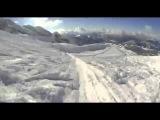 Супер скоростной спуск на горных лыжах
