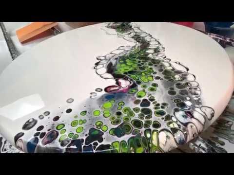 (17) Acrylic pvc slide on circle panel number 11 artwork