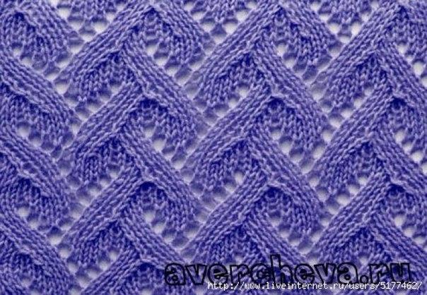 Красивый узор спицами (3 фото) - картинка