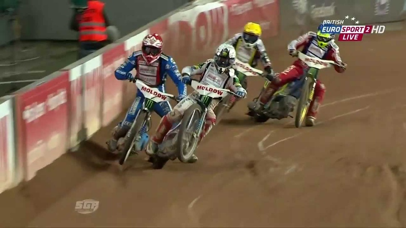(HD) Gollob vs Zagar! Danish Speedway Grand Prix / Danii - Copenhagen - 29.06.2013 - Heat XVIII