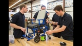 World's lightest, least expensive motorized wheelchair designed by BYU engineering students
