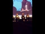 Martin talks about the clip from bbc Sherlock where John goes to Sherlocks grave.