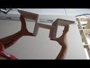 Фрезеровка гипсокартона Изготовление и монтаж сложного элемента из гипсокартона на потолок
