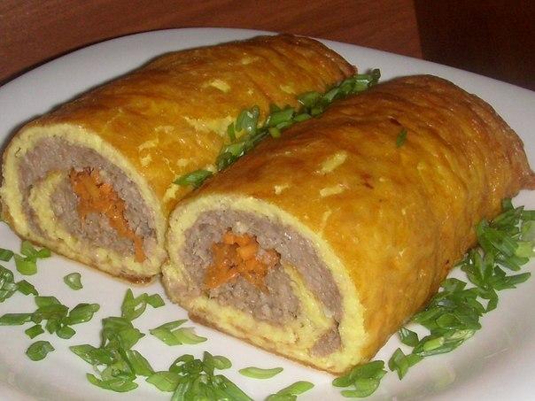 рулет куриный рецепт с сыром и фаршем