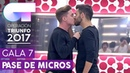 MANOS VACÍAS - Raoul y Agoney   Segundo pase de micros para la Gala 7   OT 2017