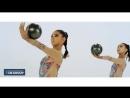Монгольские художественные гимнастки.