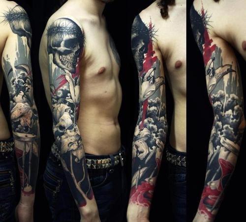 Realistic Trash Polka Tattoos (Треш полька) - стиль