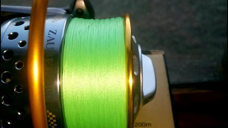 Намотка плетенки от Серебряного Ручья Jaba Line Х4 0.06мм на катушку Ryobi Zauber 4000