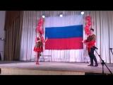 Кадриль исполняют Полина и Кирилл Ивановы