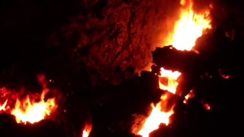 Лава Килауэа - Crossing Kahukai at Kaupili 3:25 - 26 мая 2018