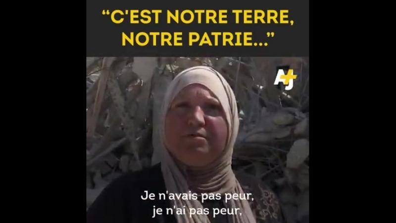 """""""Ils tuent un jeune garçon, on en fait des centaines."""" Cette mère palestinienne assiste à la destruction de son village par Isra"""