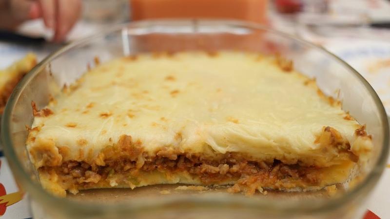 Pastel de patata y carne - Cocina casera fácil