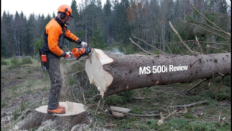 Stihl MS 500i - First Review Chainsaw wo Carburetor