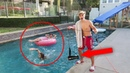 BLOW DRYER IN SWIMMING POOL PRANK (gone wrong?!)