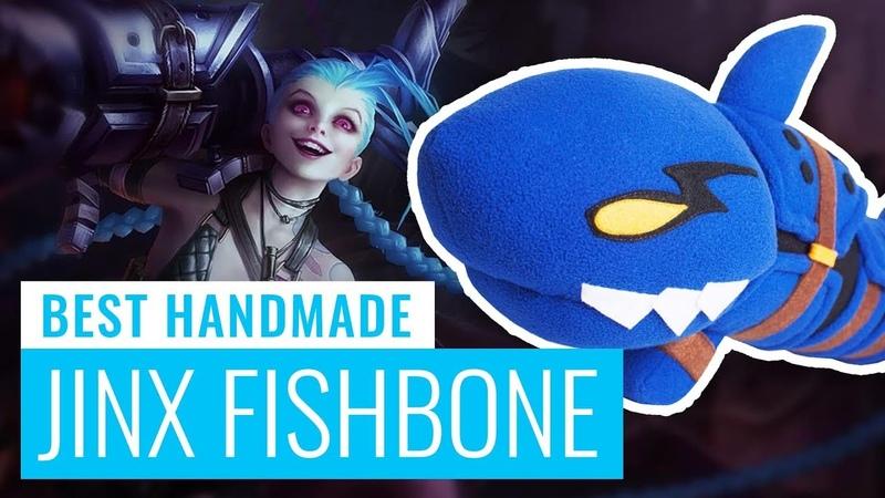 Jinx's Fishbone Rocket Launcher (League of Legends) Handmade Plush Toy