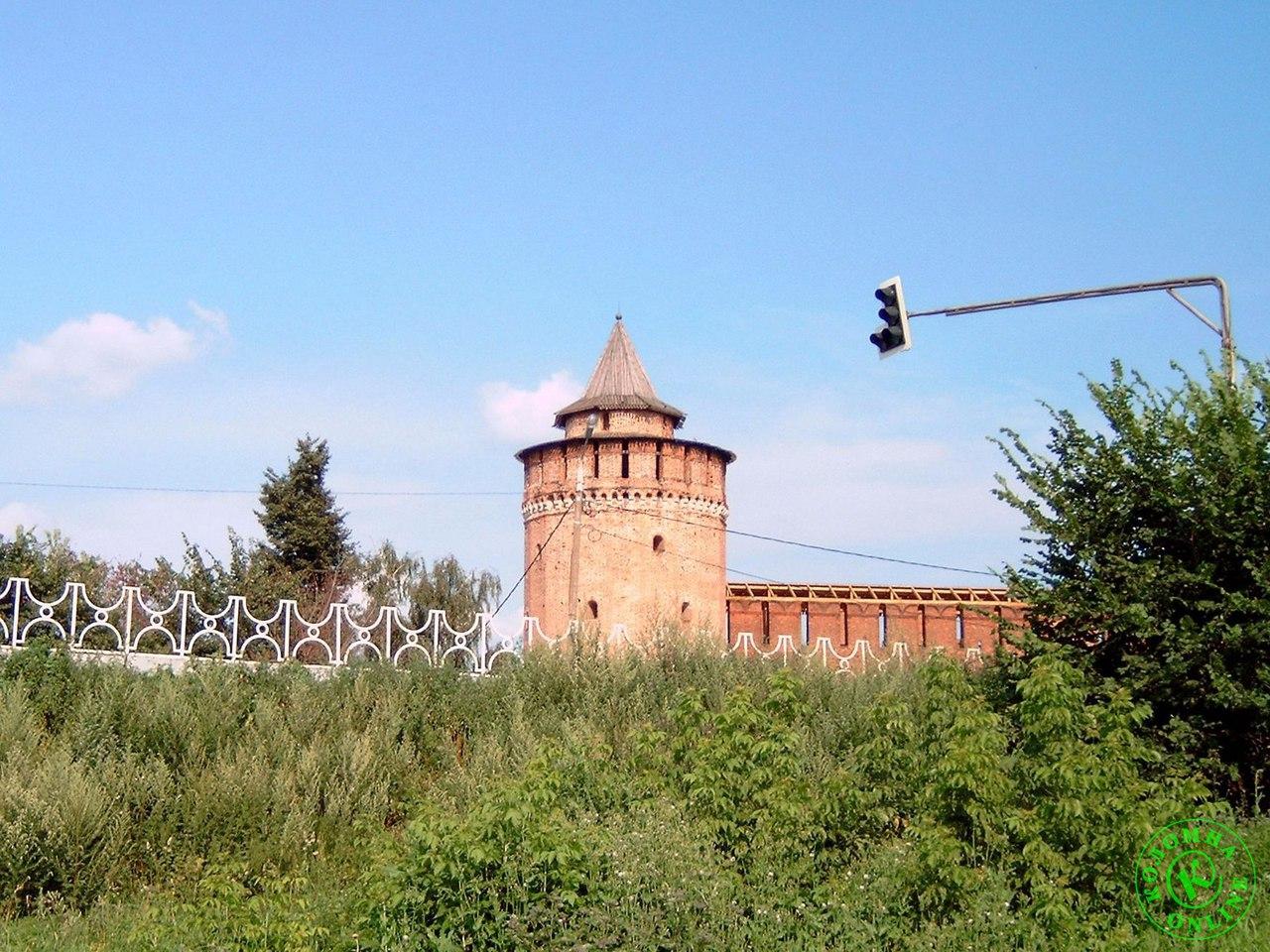 Достопримечательности Коломны: Коломенская (Маринкина) башня Коломенского кремля.