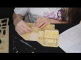 [ASMR KittyKlaw] АСМР 🎧 Собираем Деревянный домик 🏠 | Таппинг, шепот, набор для творчества | ASMR russian