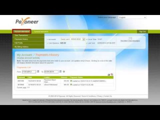 How to view your account transaction and load history