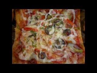 Пицца из слоеного теста . Быстро, легко и красиво!!