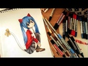 SPEED PAINTING - WENDY MARVEL- CAT - FAIRY TAIL - COPICS/PROMARKER